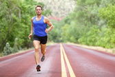 Running athlete man — Stock Photo