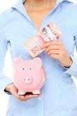 Canadian money piggybank savings — Stock Photo