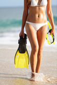 Vacation and beach holidays travel concept woman — Stock Photo