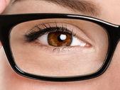 Gözlük gözlük gülümsemek — Stok fotoğraf
