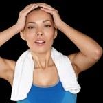 Fitness woman sweating — Stock Photo #25233827
