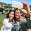 Couple fun taking self-portrait in San Francisco — Stock Photo #25234185