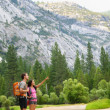 Hiking on hike in mountains in Yosemite — Stock Photo #25234201