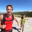 Hiking couple having fun outdoors in Yosemite, USA — Stock Photo #25234243