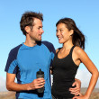 Romantic healthy athletic couple — Stock Photo