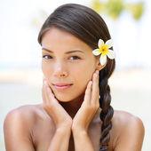 Retrato de beleza spa resort de mulher — Foto Stock