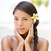 Spa resort beauty portrait of woman — Stock Photo