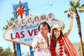 Las Vegas Elvis impersonator having fun — Foto de Stock