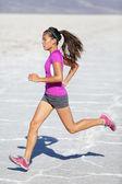 Running woman - runner sprinting on trail run — Stock Photo