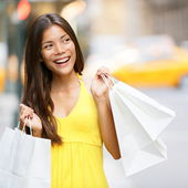Shopping woman in New York City — Stock Photo