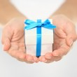 Gift box in female hands — Stock Photo #26073067