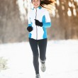 Winter running — Stock Photo #26073075