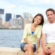 Stock Photo: Young couple dating in New York