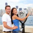 Tourists Couple - Tourism New York, USA — Stock Photo