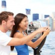 Tourists couple travel in New York — Stock Photo #26073141
