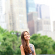Businesswoman in New York Central Park — Stock Photo #26073143