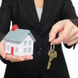 Real estate agent new house keys concept — Stock Photo
