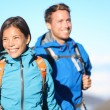 Hikers - hiking couple happy — Stock Photo #26073433