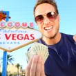 Stock Photo: Las Vegas man winning money