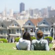 San Francisco - Alamo Square — 图库照片