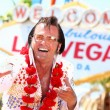 Las Vegas Elvis impersonator — Stock Photo