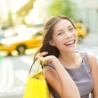 Shopping woman in New York City - Stock Photo
