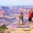 Happy jumping in Grand Canyon — Stock Photo