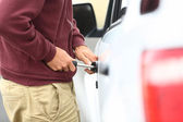 Car break in and theft — Stock Photo