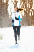 Winter running — Stockfoto
