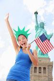 Tourist at Statue of Liberty, New York, USA — Stock Photo
