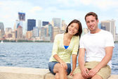 Young couple dating in New York — Stock Photo