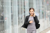 Business woman in motion — Stock Photo