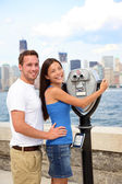 Tourists Couple - Tourism New York, USA — Stock Photo