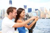 Toeristen paar reizen in new york — Stockfoto