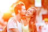 Couple kissing fun — Stock Photo