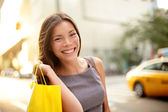 Shopping business woman in New York City — Stock Photo