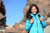 Hiking - hiker woman happy portrait — Stock Photo