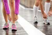 Runner feet — Stock Photo