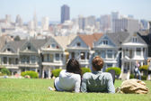 San Francisco - Alamo Square — Foto de Stock
