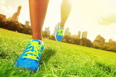 Runner - loopschoenen close-up — Stockfoto