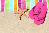Tropikal plaj tatil tatil seyahat kavramı — Stok fotoğraf