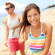 Couple enjoying romantic beach vacation holiday — Stock Photo