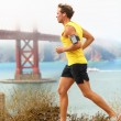 Man jogging - male running in San Francisco — Stock Photo