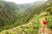 Hiking on Hawaii, Waihee ridge trail, Maui — Stock Photo