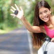 Car - woman showing new car keys happy — Stock Photo #28193169