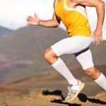 Running sport fitness man - closeup — Stock Photo
