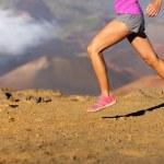 Running sport fitness woman - closeup — Stock Photo