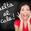 Vuelta al cole - Spanish student back to school — Stock Photo #28193793