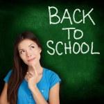 Back to School, university college student teacher — Stock Photo