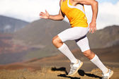 Running sport fitness man - closeup — Stock Photo